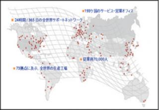 シーメンスの世界分布図