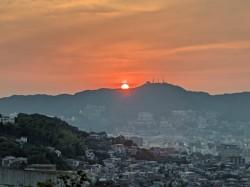 稲佐山の夕陽